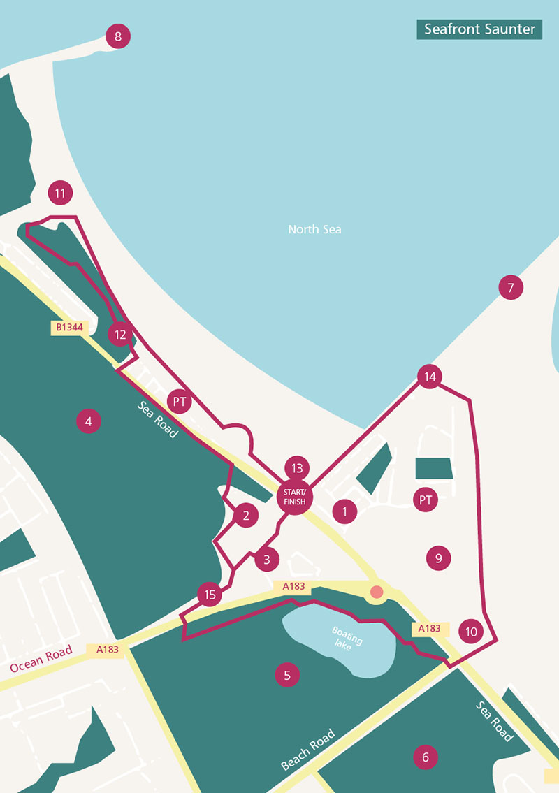 Map of Seafront saunter